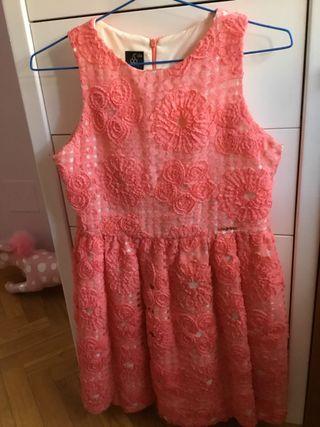 Vestido coral de SANMAR