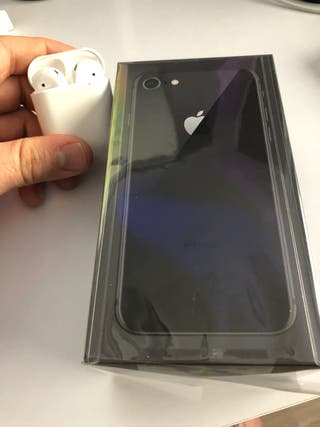 IPHONE 8 64GB space gray + AURICULARES