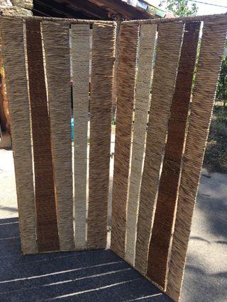 Biombo fibra natural