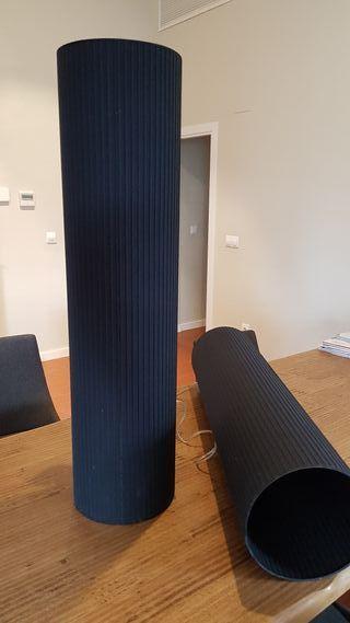 2 Lámparas colgantes con pantalla negra