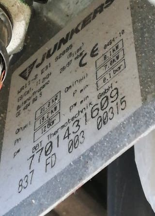 Calentador Junkers 8l.
