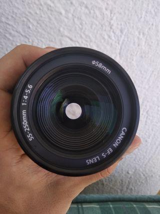 Objetivo Canon EF-S 55-250mm 1:4-5.6 IS