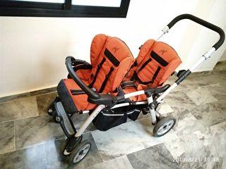 carrito bebe doble (twin too de jané)