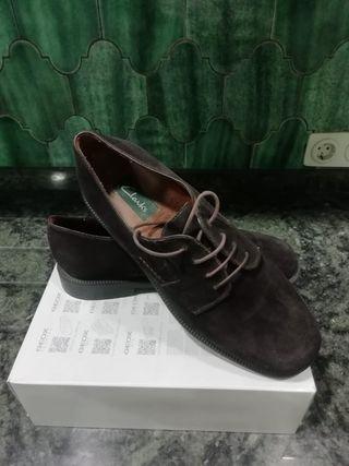Clarks (ingles) Zapatos Marron Casi Nuevo