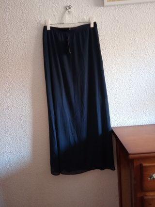 Falda larga mango