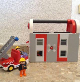 Playmobil 1 2 3 parque bombero