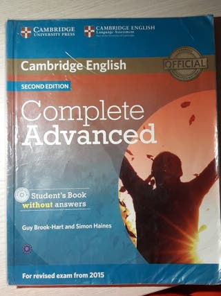 "Libro de Inglés ""Complete Advanced"""