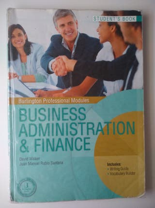 """Libro de ing """"Business Administration & finance"""""""