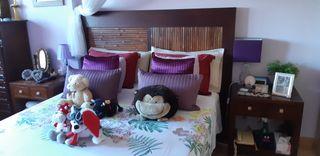 Dormitorio matrimonio 1,50 Teca/bambú