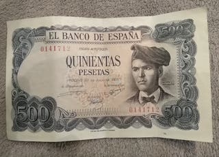 Billete 500 pesetas 1971 Jacinto Verdaguer