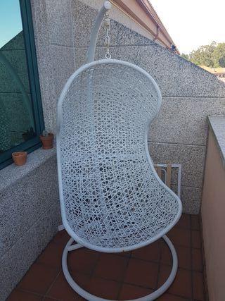 silla colgante exterior o interior