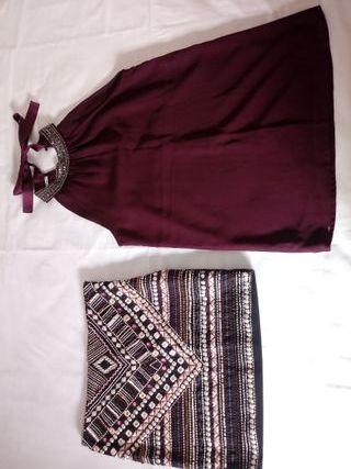 Conjunto de falta y blusa