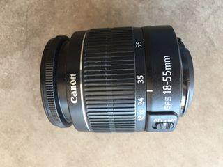 Canon objetivo 18-55 mm
