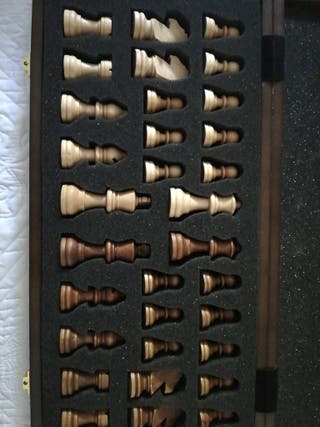 ajedrez de madera