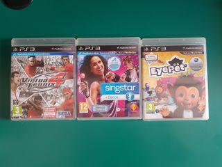 PS3 + mandos + 12 juegos + camara Eye