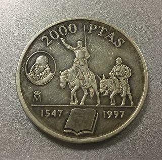 Moneda 2000 pesetas 1997 PLATA Autentica