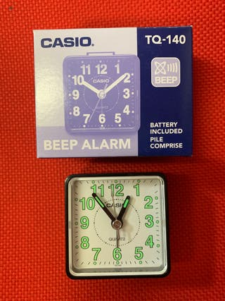 Reloj despertador Casio TQ140 NUEVO