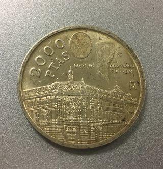 Moneda 2000 pesetas 1994 PLATA Autentica