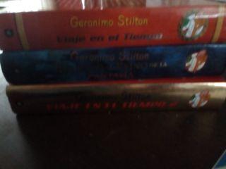 4 libros Gerónimo Stilton infantil-juvenil