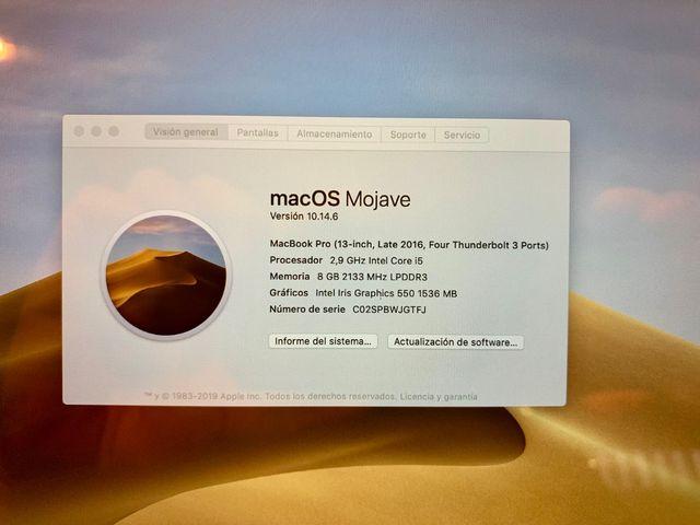 Apple MacBook Pro 13 Gris Espacial con touchbar