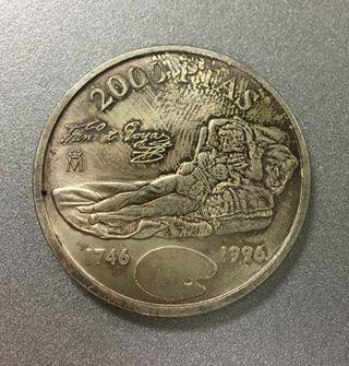 Moneda 2000 pesetas 1996 PLATA Autentica