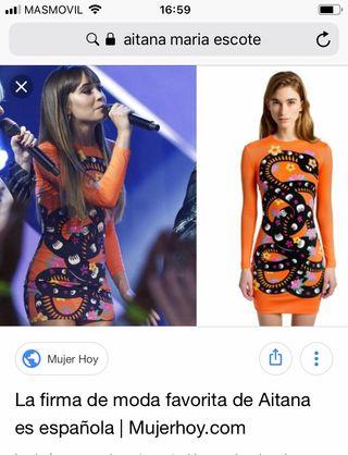 Vestido cobra MARIA ESCOTE