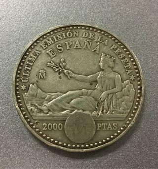 Moneda 2000 pesetas 2001 PLATA Autentica