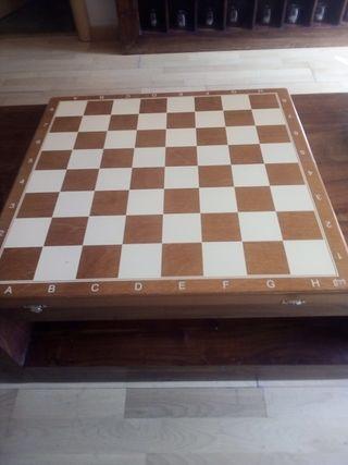 tablero ajedrez madera plegable