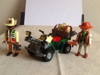 Playmobil quad aventura selva explorador dinos