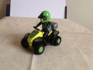 Playmobil quad pilotos carreras motos aventura