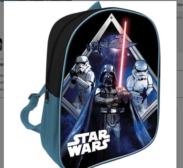 mochila o maleta infantil star wars