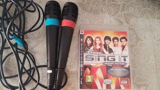 Micrófonos originales sing star y juego