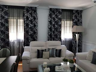 cortinas salon alhambra intern. seda natural.