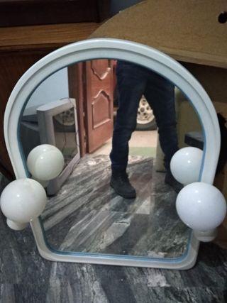 Espejo de baño de dos focos