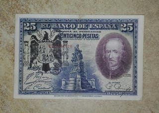 billete antiguo (25 pesetas 1928)