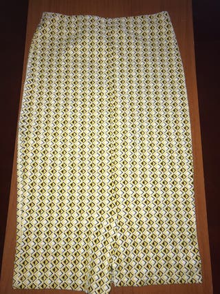 Falda larga cuadros
