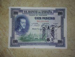 billete antiguo (100 pesetas 1925)
