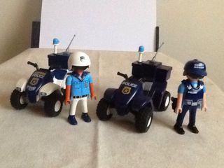Playmobil quad policias figuras city comisaria