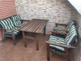 Conjunto sofa mesa exterior terraza jardín