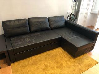 Sofá cama IKEA FRIHETEN de cuero