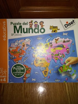 puzzle del mundo +4años