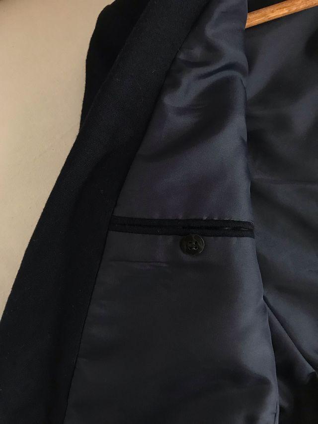 Chaqueta de traje lana azul oscuro