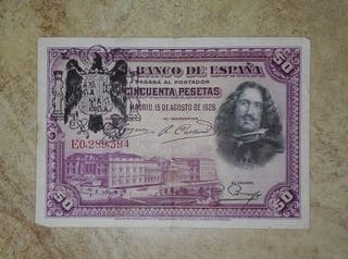 billete antiguo (50 pesetas 1928)