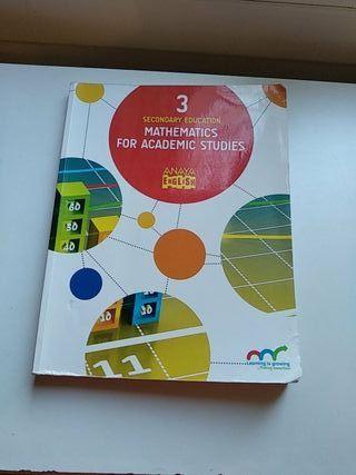 Libro matemáticas 3 ESO en ingles
