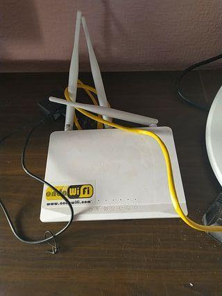 Antena Wifi y router