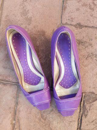 zapatos morados 37