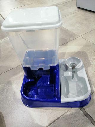 Comedero, Dispensador comida y agua 2en1 perros