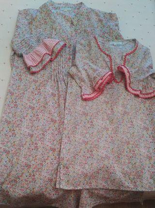 Conjunto de vestidos de madre e hija