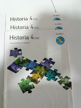libros de Historia 4° Eso
