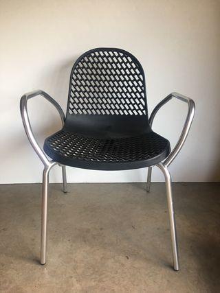 Sillones y silla aluminio para exterior